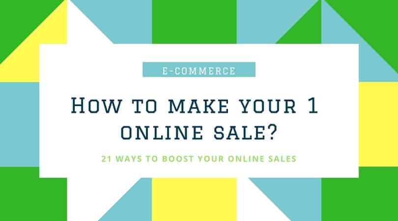 make your first sale online banner