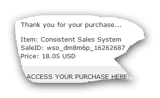 Consistent Sales System Proof Of Purchase